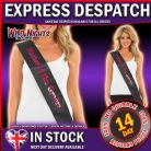 HEN NIGHT PARTY MOTHER OF THE GROOM SASH - BLACK